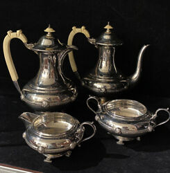 Sterling Silver Coffee And Tea Service, 1680gr. Sheffield, C1937. Cooper Brothers.