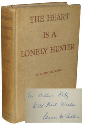 Carson Mccullers / The Heart Is A Lonely Hunter Signed 1940