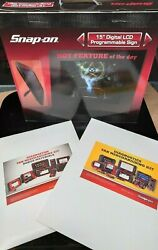Snap-on Tools 15 Digital Lcd Programmable Sign Collectible Dealer Kit