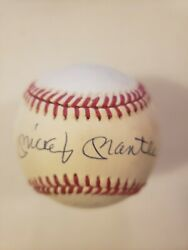 Mickey Mantle Autographed Official American League Baseball–jsa Auction Letter