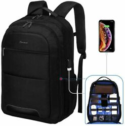 17.3 Inches Backpack for Men Tech Backpack with Charger Laptop Electronics Bag $52.99