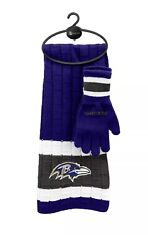 Baltimore Ravens Nfl Licensed Scarf And Gloves Gift Set With Free Shipping