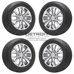 20 Ford F150 Pvd Bright Chrome Wheels Rims And Tires Oem Set 4 2007-2021 10003