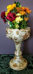 Moser 1880's Modified Opaline Cased Gold Gilded Mantel Art Glass Piece Tall Fine