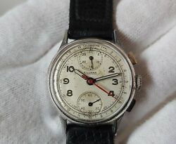 Wwii Era Silvana Chronograph Telemetre Menand039s Mechanical Watch Fully Working