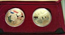 1983 S 1984 S Proof Olympic Silver Dollar 2 Coins Us Mint Commemorative Set