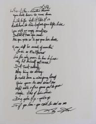 Sly And The Family Stone Signed Autograph Life Handwritten Lyrics