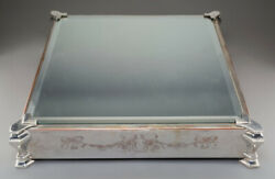 Stunning Silver Plated Mirrored Cake Plateau Display Stand Wedding