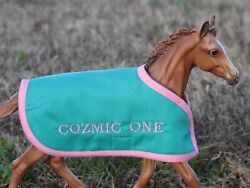 COZMIC ONE Zenyatta colt TB embroidered blanket Breyer thoroughbred race horse