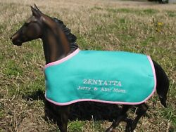 ZENYATTA TB embroidered blanket Breyer thoroughbred race horse