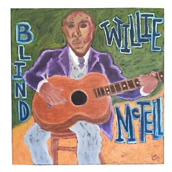 John Sperry Southern Primitive Musician Folk Art Painting Blind Willie Mctell