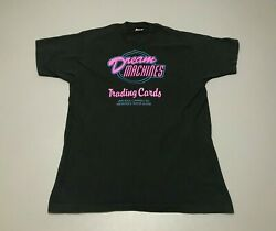 Vintage 90s Dream Machines Trading Cards Neon Rhode Island T-shirt Adult Size L