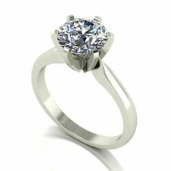 Forever One Moissanite 18ct White Gold 2.00 Carat Solitaire Ring