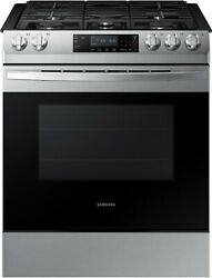 Samsung Nx58r9311ss 30 Inch 5 Burner Slide-in Gas Range With Glass Touch Control