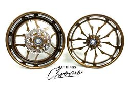 360 Fat Tire Root Beer Contrast Recluse Wheels 2004-2008 Yamaha Yzf R1