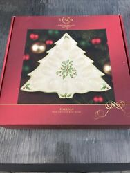 Lenox Holiday Tree Deviled Egg Dish Plate Stamped Andldquodimension Collection Nib