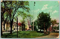 Postcard Ipswich Massachusetts Soldiers Monument And North Church Posted C1900s
