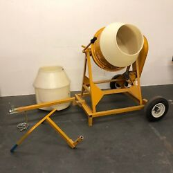 Mcmaster-carr Gilson Cement Mixer Custom Cart Handle Hitch 2 Liners 1/3hp 22 Gal