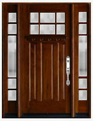 Mahogany Wood Front Door With Window Unit Door Prehung And Finished
