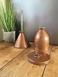 Antique Industrial Copper Beer Brewing Filter Funnel Lined Distillery Container