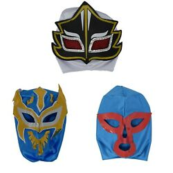 3 Luchador Mask Kids for Mexican Party Mexican Wrestling Masks for Kids $18.99