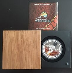 2009 Silver Proof Coin 1 Troy Oz Discover Australia Kangaroo With Box And Coa