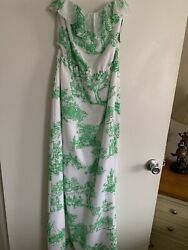 Lilly Pulitzer New Darleena Dress Resort White Spring Fever Toile Size Small