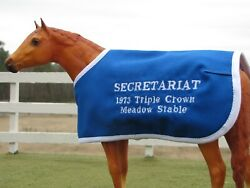 SECRETARIAT TB embroidered blanket Breyer thoroughbred race horse