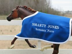 SMARTY JONES embroidered blanket Breyer thoroughbred race horse CM