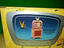 💋 Betty Boop 2000 Vandor With Television Salt And Pepper Shakers Mib 💋
