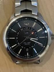 Auth Tag Heuer Watch Link Gmt Automatic Calibre 7 Wat201a.ba0951 Analog F/s