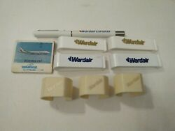 Wardair Pen Match Card And Napkin Rings 1980s