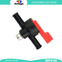 Black Fuel Tap In Line On/off 6mm Fit Stationery Engines Generators