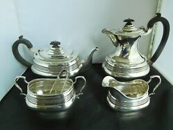 Superb Antique English Sterling Silver Georgian Revival Tea And Coffee Set