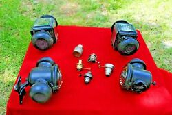1909 10 11 12 13 14 Ford Model T Oil Fired Lamp Set Of 4 Marked Ford Correct Ori