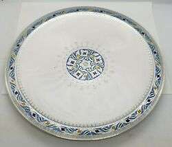And Co Sterling Silver Enamel Serving Platter Cake Plate Tray Moore Ii Era