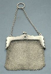Sterling Silver Mesh Coin Purse Evening Bag Hallmaked Egb Antique Collectable