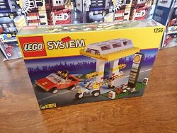 Lego Town Jr Gas Station Set 1256 Shell Petrol Pump New Complete Sealed