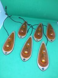 Vintage 6x Marker Cab Yellow Tail Light Fender Cab Clearance Mopar Chevy Ford