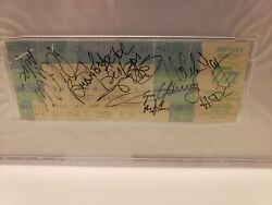 Acdc Autographed 1996 Balkbreaker Tour Concert Ticket.. By All 5 Members..psa Ce