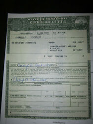 1965 Ford Pickup   Barn Find Historical Document