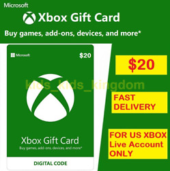 20 Xbox Live 20 Usd Gift Card - Microsoft Xbox One And 360 - Usa Only