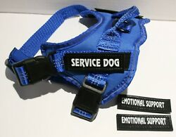 Voopet Reflective Service Dog Harness w Removable Patches and Handle S