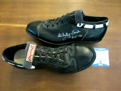 Whitey Ford Hof 74 Wsc 61 Yankees Signed Auto 1960and039s Spalding Cleats Shoes Bas