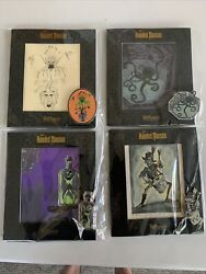 Disney D23 Expo 2019 Disneyland Haunted Mansion Picture And Pin Le Full Set Of 4