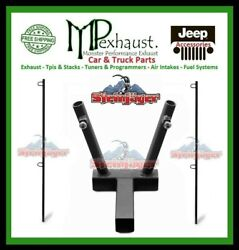 Dual Flag Holder With 2 Poles Fits Class 3 Hitch Steinjager J0045891 J0045724