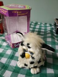 1998 Furby, White With Black Spots, White Ears, Gray Eyes