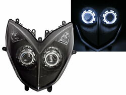 Racing 2013-2014 Motorcycles Ccfl Projector Led Headlight Black For Kymco