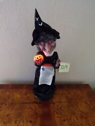 Animated/illuminated/audible Telco Halloween Laughing Witch With Lighted Pumpkin