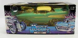 Muscle Machines 57 Chevy Belair 118 Scale Turquoise